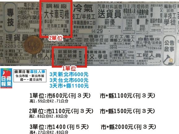 刊登蘋果日報